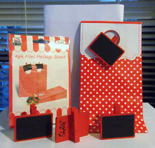 8 RED MINI MESSAGE BOARD PEGS & 8 RED PARTY BAGS GREAT TABLE DECORATION