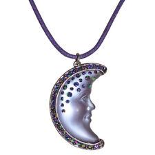 Kirks Folly Moon Shadow Goddess Cord Necklace (Silvertone/Purple)