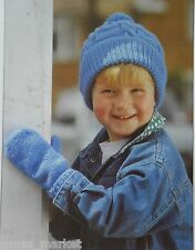 HATS, BALACLAVA, SNOOD, MITTENS - Children's DK Knitting Pattern * 2 - 12 years