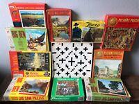 Vintage Jigsaw Puzzles Whitman, Big Ben, Jaymar Lot Of 11