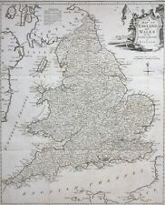 UK c1757 England Wales by Kitchin, antique map