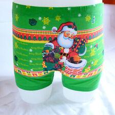 Green Blue Red Black Navy Funny Xmas Gift Santa Cotton Boxer Shorts L XL 2XL 3XL