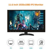 "13.3"" IPS LCD CCTV PC Monitor HD 1080P Screen HDMI VGA USB MicroSD AV w/ Speaker"