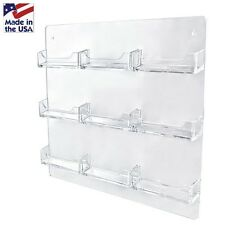 Dazzling Displays 9-Pocket Clear Acrylic Wall-Mount Business Card Holder