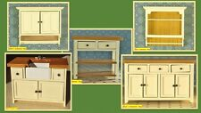1:12 scale dolls house miniature shaker style kitchen units 5 to choose from.