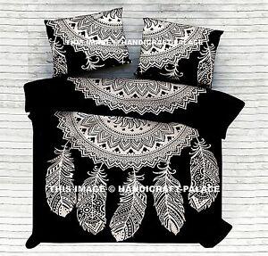 Indian Dream Catcher Mandala Doona Duvet Cover Quilt Boho Bedding Blanket Cover