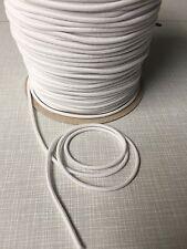 10m nastro di gomma in gomma rotondo gomma cordino bianco 3mm nastri elastica (0,29 €/m)