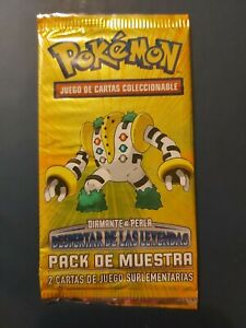 Spanish Pokemon Sample Booster Pack Diamond and Pearl Cards