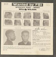 1960 Fbi Wanted Poster Photo Murder Interstate Black Americana Fingerprint
