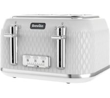 Breville Curve VTT911 4-Slice Toaster in White with Wide Slots & High Lift