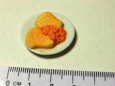 Échelle 1:12 Toast avec haricots Dolls House Miniature accessoires
