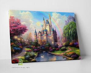 DISNEY Castle Fairytale Canvas Art Wall Art Print Children Kids Picture -C689