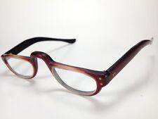 Bausch & Lomb Prescription Half Cat-Eye Glasses Vintage 5 3/4 Red/Black RARE