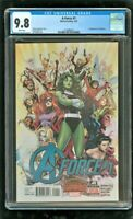 CGC 9.8 A-FORCE #1 MARVEL COMICS 7/2015 1ST APPEARANCE OF SINGULARITY