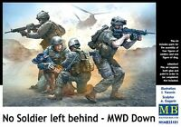 NO SOLDIER LEFT BEHIND - MILITARY WORKING DOG DOWN! U.S. INFANTRY 1/35 MASTERBOX