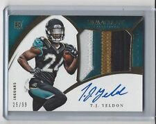 T.J. Yeldon 2015 Immaculate Collection Premium 4 COLOR RC Rookie Patch Auto /99