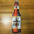 "Vintage Signet Graphics Michelob Dry Bottle Tin Hanging Sign #395-285 - 30"""