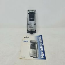 Braun 6550 Battery Powered Shaver Flex Integral Ultra Speed - UNTESTED