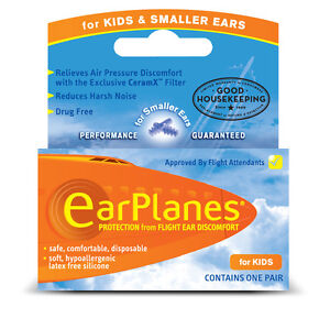 EarPlanes Silicone Earplugs For Kids and Smaller Ears 1 Pair
