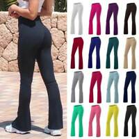 Women Bootcut Yoga Pants Bootleg Flared Trousers Casual Fitness Stretch Sports O
