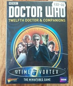 """Warlord Games Dr Who """"The Twelth Doctor & 4 Other Pewter figures NEW/SEALED"""