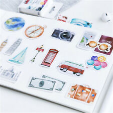 46Pcs/Box Korean Style A Person's Travel Paper Stickers Diary Decor Scrapbooking