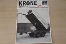 163228) Krone Einachs Dreiseitenkipper EDK 210/64 210/75 S Prospekt 10/1982