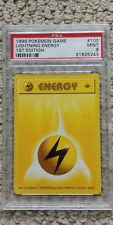 Pokemon Lightning Energy 100/102 1st Edition Base Set PSA 9 Game 1999 Shadowless