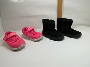 NIKE Flex RN Athletic Shoes Sneakers Pink 834285600 7C Cat Jack Boot Toddler
