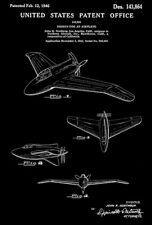 "1946 - Northrop XP-56 ""Black Bullet"" Airplane - Patent Art Poster"
