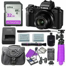 Canon PowerShot G5 X Digital Camera with 32Gb Sd Memory Card + Accessory Bundle