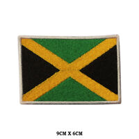 JAMAICA National Flag Embroidered Patch Iron on Sew On Badge For Clothes etc
