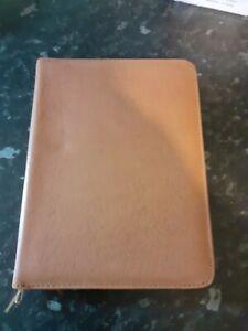 Vintage writing set wallet genuine cowhide tan