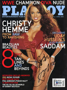 CHRISTY HEMME SIGNED AUTOGRAPHED FULL PLAYBOY MAGAZINE RARE WWE DIVA BECKETT BAS