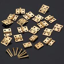 10x mini Tiny Gold Tone CERNIERE scatole per gioielli piccole imbarcazioni cerniera con chiodi B