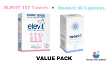 Elevit Vitamin and Mineral Pregnancy 100 Tablets PLUS Menevit 90 Capsules *MVC*