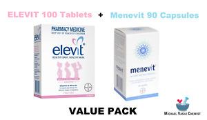 Elevit Vitamin and Mineral Pregnancy 100 Tablets PLUS Menevit 90 Capsules *MVC*