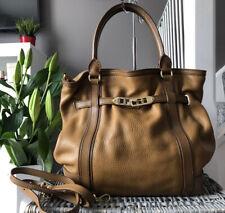 Beautiful Genuine Burberry Satchel Bag, Tan Leather Shoulder Bag