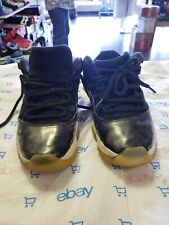 Nike Air Jordan 11 Low Barons Size 9 528895-010 Suede Black/White/Silver beaters