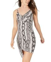 Crave Fame Dresses Black Size XXL Junior Plus Sheath Snake-Printed $39 277