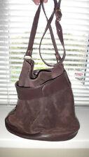 Vintage St Michael M&S Real Suede & Leather Bucket Tote Shoulder Hobo Handbag