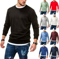 Jack & Jones Herren Sweatshirt O-Neck Basic Sweater Langarmshirt Pullover Pulli