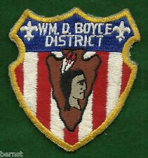 BOY SCOUT PATCH - 1960's WM. D BOYCE DISTRICT - LOT 24