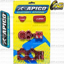Apico Bling Pack Red Blocks Caps Plugs Nuts Clamp Covers For Honda CRF 450R 2013