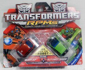 Transformers RPMS Mudflap VS Skids Battle Series 04 Robot Car Machines NEW
