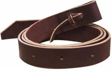"""Western Brown Leather set of Cinch Tie Straps 1.5"""" Wide"""