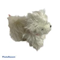 "🍊 BATTAT Our Generation White Fluffy Plush Maltese Pup/Puppy Dog (2017) 5"" EUC"