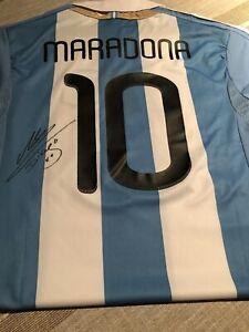 DIEGO MARADONA Rare Signed Autographed Argentina Jersey
