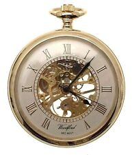 Open Face Pocket Watches Gold Plated Mechanical