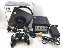 Jet Black Nintendo Gamecube System Console w in Box no manual